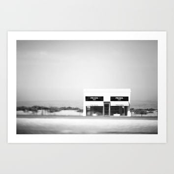 Marfa in the Wind Art Print by CMcDonald