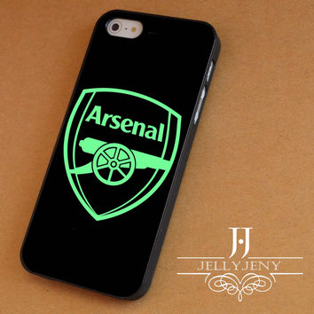 Arsenal fc logo green iPhone 4 Case 5 Case 5c Case 6 Plus Case, Samsung Galaxy S3 S4 S5 Note 3 4 Case, iPod 4 5 Case, HtC One M7 M8 and Nexus Case
