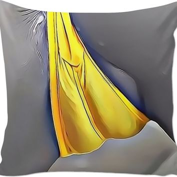 Adult series, couch throw pillow with insert - Fat and juicy, cartoon girl lingerie