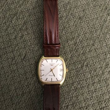 Vintage Rare Longines Conquest Cushion Case GP Mechanical Watch