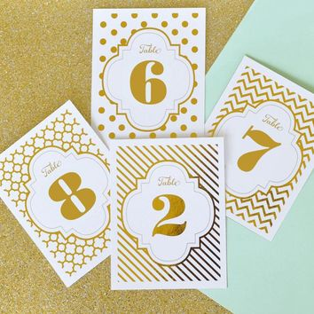 Foil Table Numbers