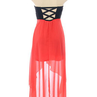 Hot Mess Dress in Coral by Cutieshey Clothing