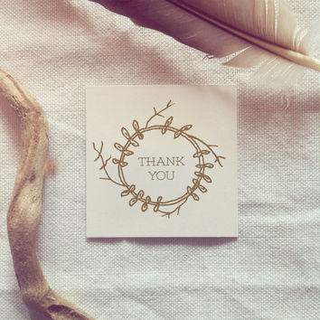 Instant Download Favor Tag - Hand Drawn Woodland - Thank you - Gift Tag for Wedding Favors