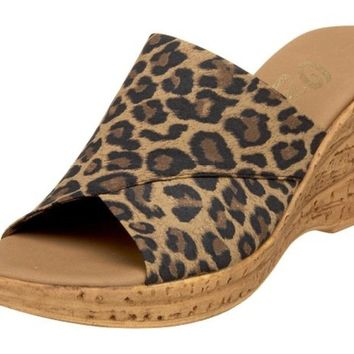 Onex Christina Brown Leopard Sandals