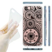 Charming Paisley Flower Mandala  Ultra thin Soft TPU Covers Phone Case for iphone 5/5s/SE/6 /6S