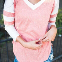 V Neck Stripe Shirt B0013730