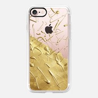 Pale Gold Rain (Transparent) iPhone 7 Case by Lisa Argyropoulos | Casetify