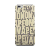 Tan Vape On Typography iPhone case