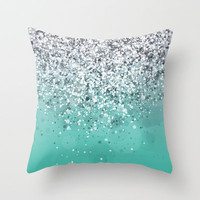 Spark Variations I Throw Pillow by Rain Carnival