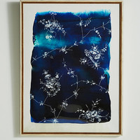 Blue And White Floral Wall Art