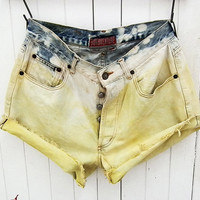 Grunge Fashion Jeans  Cut Off Shorts and Retro Vintage Tumblr Cute Comfy Jean Shorts