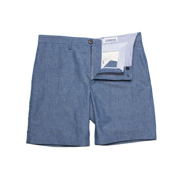 Ludlam - Blue Irish Linen Cotton Shorts