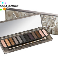 NEW IN BOX  naked Smoky Eye Shadow  Palette 12 Color Eyeshadow Palette with eyeshadow brush