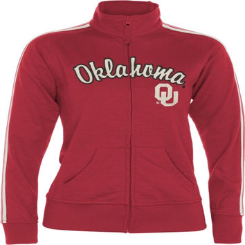 Oklahoma Sooners Women's Crimson Pacer French Terry Track Jacket
