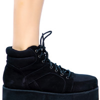 Fiona Laredo Platform Shoes Black