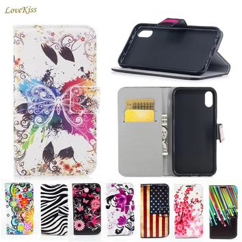 Flower Leather Phone Case For iPhone 6 6s Plus 6Plus 6sPlus Shell Back Cover Fundas For iPhone 4 5 4s 5s Caso Wallet Bag Holder