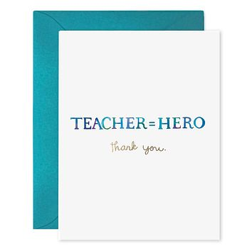 Teacher Equals Hero