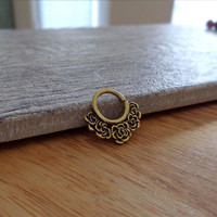 Indian Style Brass Ring For Pierced Nose, Septum, Earring, Cartridge Ring, Tragus Ring Nipple ring, Bendable, 16G
