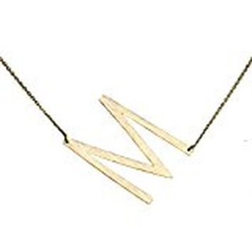 Ellison + Young Monogram Collection Initial Necklace - M