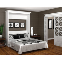 Bestar Queen Wall Bed in White