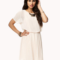 Accordion Pleated Georgette Dress