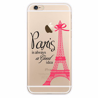 Pink Eiffel Tower Paris is Always a Good Idea iPhone Case