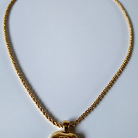 VALENTINO GARAVANI Authentic Vintage Necklace with Heart Shape Pendant. Original Packaging. Italian Designer Jewellery.