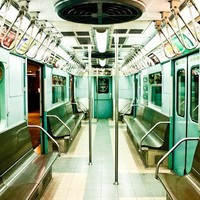 New York City Photography - Subway in Mint Green 8x10 Fine Art Photograph - nyc decor
