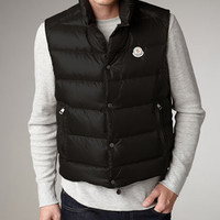 Tib Puffer Vests & Cable-Knit Beanie