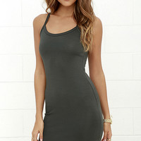 Olive & Oak So to Sleek Grey Bodycon Dress