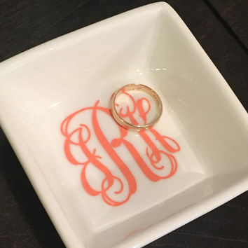 Monogrammed Jewelry Dish, Monogrammed Ring Dish, Personalized Jewelry Dish, Personalized Ring Dish, Jewelry Box, Wedding Gift