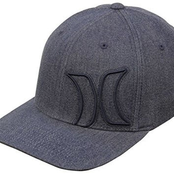 Hurley Men's Bump 5.0 Flexfit Hat, Navy, Small/Medium