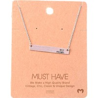 Must Have-Best Friends Bar Necklace, Silver