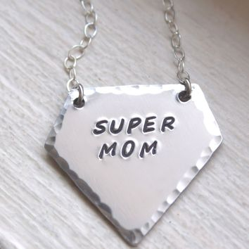 Super Mom Personalized Mothers Necklace