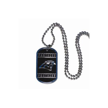 NFL Panthers 20 inch Dogtag Chain Necklace