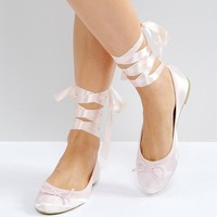 Vero Moda Tie Up Ballerina Pumps at asos.com