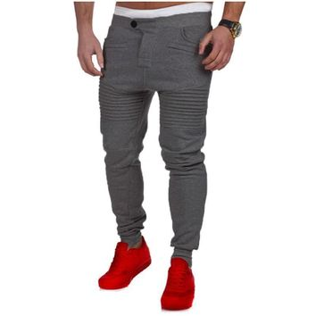 Men's Jogger Sportwear Baggy Casual Harem Pants Slacks Trousers Sweatpants Pleated Pocket Loose Pants