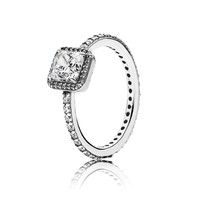 PANDORA Timeless Elegance Ring, Clear CZ - Size 8.5
