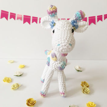 Amigurumi Giraffe Crochet Giraffe Stuffed Toy Giraffe Kids Toy Kawaii Giraffe Plush Photo Prop Nursery Decore Baby Shower Gift ideas