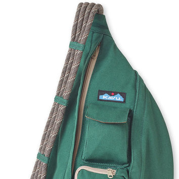 Monogrammed Kavu Rope Bags - Pine - Great gift for College, Teens, Women, Outdoors Satchel Crossbody Tote