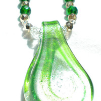 Dryope Green and White Necklace