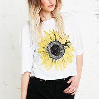 Truly Madly Deeply Single Sunflower Crop Tee - Urban Outfitters