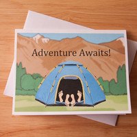 Adventure Awaits, Go Camping, Sexy Card, Naughty Card, Boyfriend Gift, Card For Girlfriend, Dirty Card, Great Outdoors, Sex In The Woods