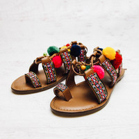 Hermosa Sandal - Tan/Multi