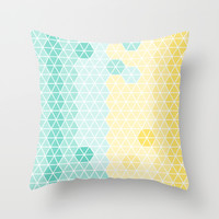 Geometric pastels 1 Throw Pillow by BlursbyaiShop