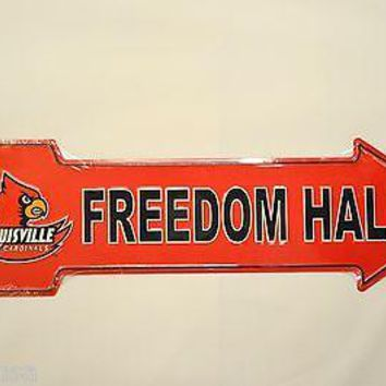 LOUISVILLE CARDINALS DOM HALL METAL ARROW SIGN Room Decor