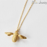 Drop Shipping Cute Bee Necklace & Pendant For Women Necklaces Jewelry Collar Colar