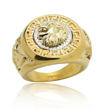 Lion Head Rings for Men Gold/Silver