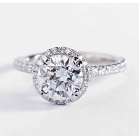 Blue Nile Studio Heiress Halo Diamond Engagement Ring in Platinum (2/5 ct. tw.) | Blue Nile