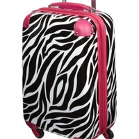 Zebra Print Hard Shell Suitcase | Girls Fashion Bags & Totes Accessories | Shop Justice